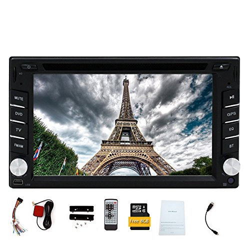 Doppel-DIN Eincar6.2 Zoll GPS-Navigation Auto-DVD-Player mit HD-Digital-Touch-Screen-8GB GPS-Karte Autoradio blutooth Windows-Systems-Auto-Stereo-Unterst¨¹tzung carlogo optionale Fernbedienung Head Unit 2din Din-touch-screen