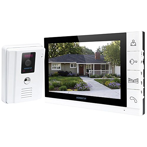 HOMSECUR 7 Video Door Intercom System HDW Series TM705R-TC011 HD Camera with Infrared Night Vision Supports Video Recording and Snapshooting