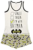 Character Clothing Damen Mädchen NEUHEIT kurzes Höschen Shorts Pyjama Ariel wonder woman BatGirl Minnie Elch taty Teddy Eeyore 8-22 - Batman POW schwarz/grau, UK 12-14