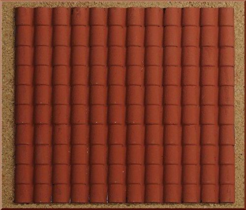 PERAGA Panneau Plastique Toit tuile Grands Rouges 35x 25cm Accessoires crèche