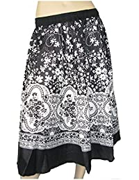 Lovarzi Womens Cotton Skirt for Summer - Beautiful ladies printed long cotton skirts - Free Size