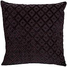 chenilla malva cruzado sof cama cojn cubierta de seda satn del patrn