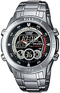 Reloj de caballero CASIO Edifice EFA-115D-1A1VEF de cuarzo, correa de acero inoxidable color varios colores (con cronómetro, alarma, luz) de Casio