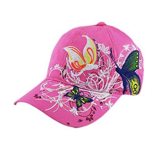 Gorra de béisbol, Longra la señora Fashion compras Ciclismo pato Sombrero (Rojo)
