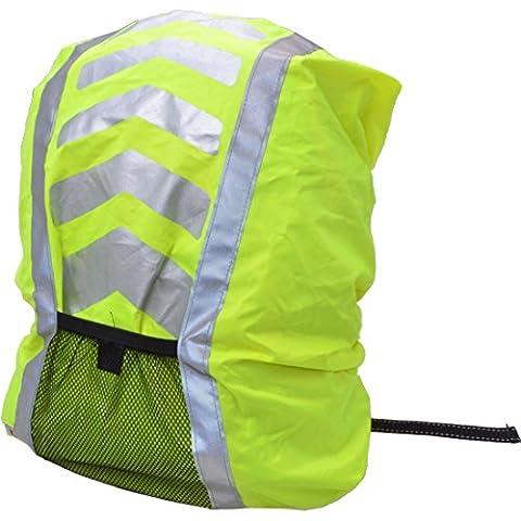 Filmer 46.849 Regenschutz / Regenabdeckung für Schulranzen / Rucksäcke / Fahrradkörbe - neongelb mit