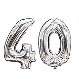 Meowoo 40 Ans Ballon pour Anniversaire de Mariage Fête d'anniversaire Décoration 40...