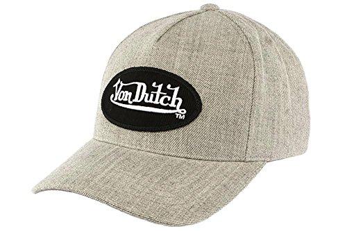 taille-unique-casquettes-von-dutch-bill-gris