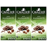 Stevia-Schokolade, Cavalier Belgian Chocolate 'Hazelnuts Milk' 3 x 85g