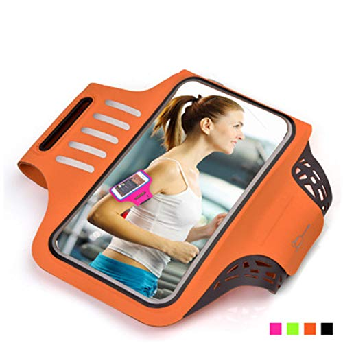 CRZJ Sportarmband Handy, Outdoor-Sport-Handy-Armband, Laufende Mobile Armtasche, Touchscreen Fingerabdruck entsperren