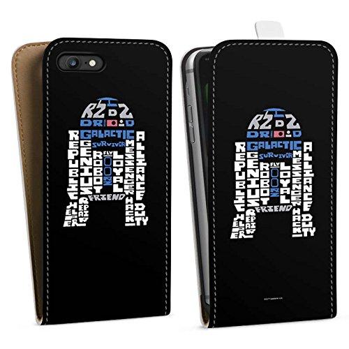 Apple iPhone X Silikon Hülle Case Schutzhülle Star Wars Merchandise Fanartikel R2-D2 Typo Downflip Tasche weiß