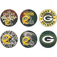 """Offizielle NFL """"Green Bay Packers"""" Button, Anstecker, Pins als 6er Set"""