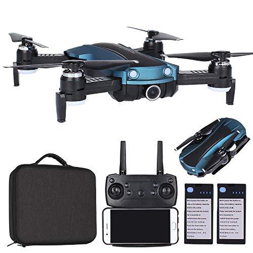 REDWALL Drohne mit Kamera HD live übertragung WiFi FPV RC Quadrocopter Sprachsteuerung Gravitationssensor Flugbahnflug KopflosModus Höhehalten 3D Flips Notlandung RC Drohne für Anfänger,Blue -