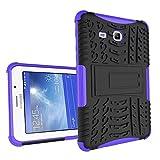 XITODA Samsung Galaxy Tab 3 Lite 7.0 Hülle, Hybrid PC + TPU Silikon Hülle Mit Stand Schutzhülle für Galaxy Tab 3 Lite 7.0 SM-T110/T111/T113/T116 Case Cover Tasche(Nicht für Galaxy Tab 3 7.0) - Lila