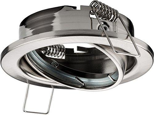 20 x Spot encastrable Capacité Cadre oscillant en aluminium brossé