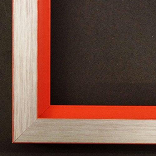 Cornice portafoto Herzogenaurach platino, gola Rosso 3,0, Cornice vuota senza vetro con ganci, argento, DIN A3 (29,7 x 42 cm)