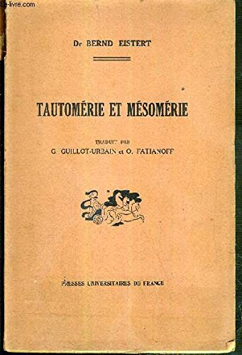 TAUTOMERIE ET MESOMERIE