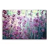 !!! SENSATIONSPREIS !!! ge Bildet® hochwertiges Leinwandbild - Lavendelblüten Feld - 30 x 20 cm einteilig 2208 F