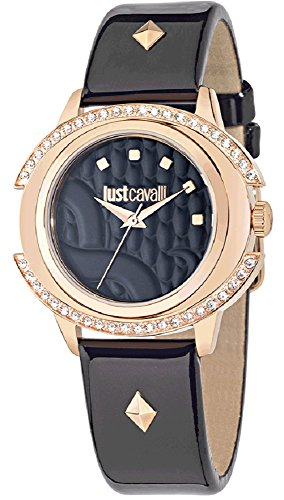 Just Cavalli Reloj de cuarzo Woman Just Decor Negro / Oro Rosa 41×39 mm