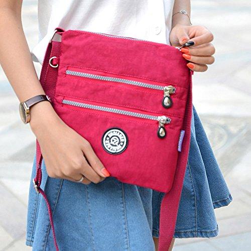 Outreo Umhängetasche Damen Schultertasche Leichter Messenger Bag Reisetasche Wasserdicht Taschen Designer Kuriertasche Mode Sporttasche für Mädchen - 3