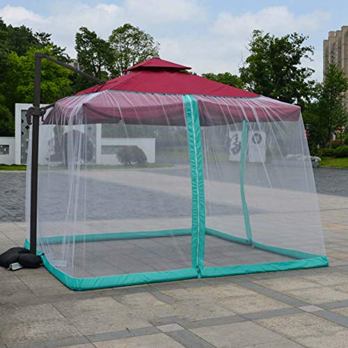SKYLLPATION Mosquito Net - Moskitonetz Ampelschirm - Moskitonetz für Pavillon Insektenschutz - Polyester - mit Wasserpfeife