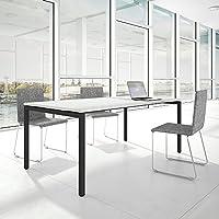 PROFI Besprechungstisch 200x100cm NOVA U 4-8 Pers. Konferenztisch Meetingtisch , Gestellfarbe:Anthrazit