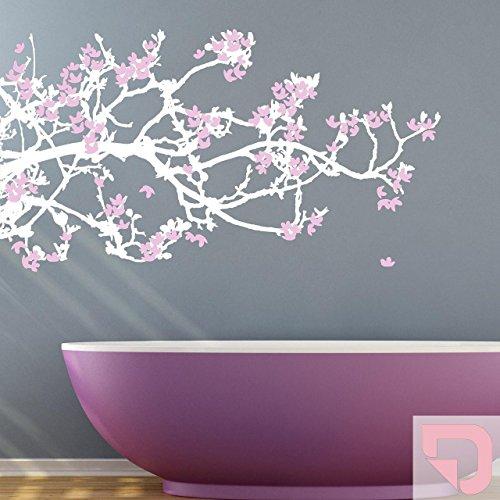 Pastell-magnolia (DESIGNSCAPE® Wandtattoo Magnolien - Zweifarbiger Wandtattoo Ast mit Magnolien Blüten 120 x 66 cm (Breite x Höhe) Farbe 1: pastell-rosa DW804001-M-F98)
