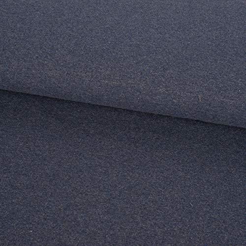 SCHÖNER LEBEN. French Terry Sommersweat einfarbig dunkelblau meliert 1,50m -