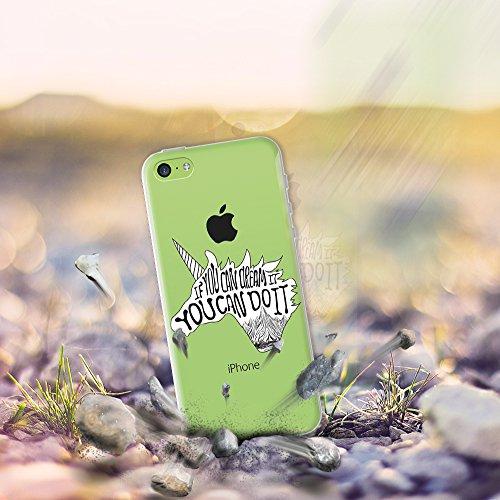 iPhone 5C Hülle, WoowCase® [ Hybrid ] Handyhülle PC + Silikon für [ iPhone 5C ] Indische Pferde Sammlung Tier Designs Handytasche Handy Cover Case Schutzhülle - Transparent Hybrid Hülle iPhone 5C D0373