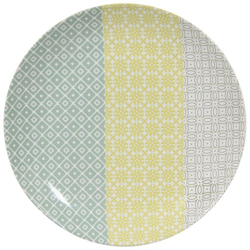Novastyl 8012999.0 Truecof Assiette Plate Gris Multicolore 26,5 X