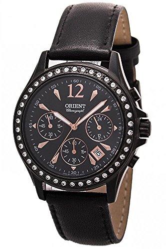 Orient Women's Chronograph Quartz Watch with Leather Strap FTW00001B0