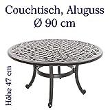 Hanseatisches Im- & Export Contor GmbH Made for us Gartentisch, Aluguss, rund, Ø 90 cm, Höhe 47 cm, Couchtisch oder Beistelltisch