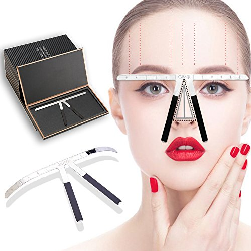 Tattoo Eyebrow Ruler Measuring Tool Makeup Symmetrical Stencil Calipers, Three-point Positioning Microblading Grooming Shaper Ruler