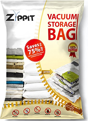Vacuum Storage Bags by Zippit, Extra Large 100x80cm