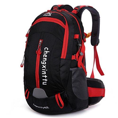 Outdoor Bergsteigen Tasche Wasserdicht Nylon Schulter Tasche Reise Tasche Black