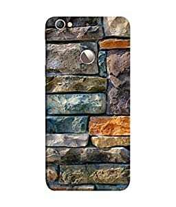 PrintVisa Designer Back Case Cover for LeEco Le 1s :: LeEco Le 1s Eco :: LeTV 1S (Artistic Multicolour wall Blue Copper White grey)