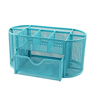 A-SZCXTOP Office Desk Tidy Multifunctional Desk Organiser Pen Holder Metal Mesh Pencil Pen Organiser Stationery Container