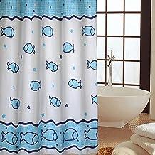 Moho poliester impermeable gruesa ducha cortina tela/El más pesado ducha cortina línea de plomo-B