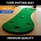 FORB Home Golf Putting Mat (10ft Long) - Improve Your Putting Stroke In