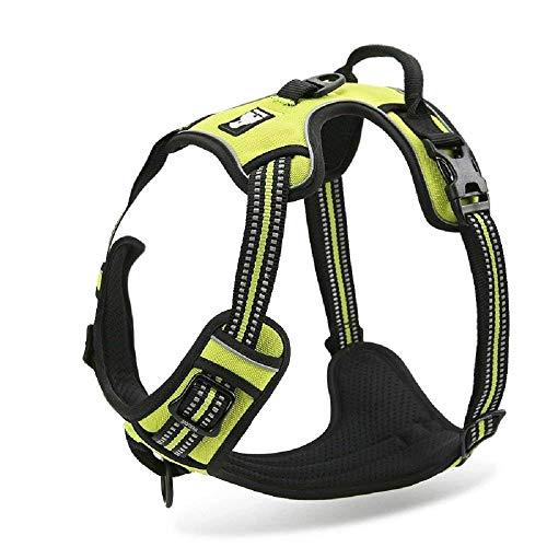 Best Hundegeschirr zum Ziehen. 3M Reflektierende Outdoor-Abenteuerweste mit Griff / reflektierendes Nylon, großes Hundegeschirr für jedes Wetter, gepolstert, verstellbare Sicherheitsleine für Hunde