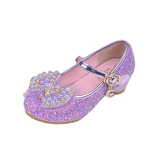 O&N Prinzessin Partei Schmetterling Absatz-Schuhe Sandalette Stöckelschuhe Kinder Mädchen