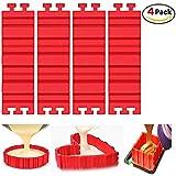 Kungix Moldes para tartas de silicona en forma de serpiente para el horno 4piezas DIY Multi-puzzle repostería y pasteles Decoración
