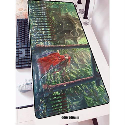 Lbonb Mauspad Gamer 3D 90X40 Cm Notbook Mauspad Gaming Mousepad Halloween Geschenk Pad Maus Pc Schreibtisch Padmouse Matten