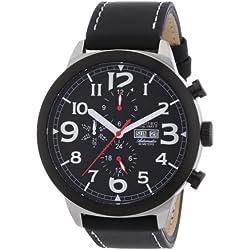 Nautec No Limit Men's Automatic Watch Blizzard BZ AT/LTSTBKBK with Leather Strap