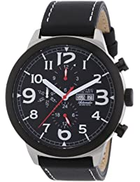 Nautec No Limit Herren-Armbanduhr XL Blizzard Analog Automatik Leder BZ AT/LTSTBKBK