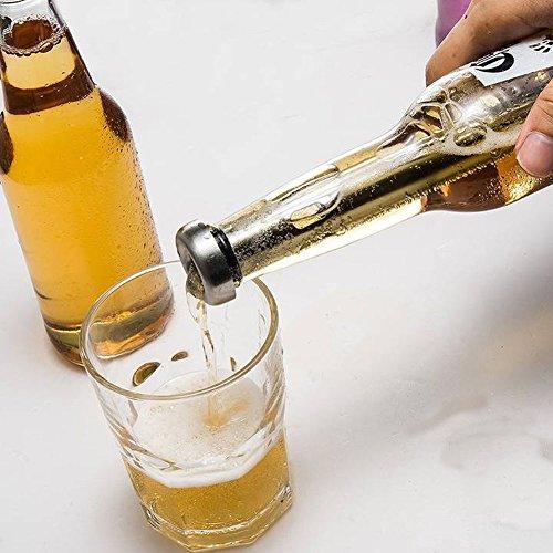 Genial botella de cerveza y abrebotellas de bolsillo