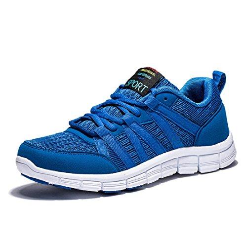 Uomo Scarpe sportive traspirante Scarpe casual Scarpe da corsa Antiscivolo formatori All'aperto Moda Scarpe da ginnastica euro DIMENSIONE 39-44 blue