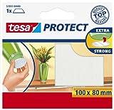 Tesa Protect Filzgleiter, rechteckig, 100mm:80mm, weiß, 1 Stück