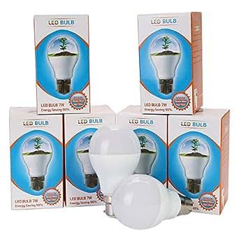 TKOOFN Ampoule Spot LED Standard - Culot B27 - 7 Watts Consommés - Lumière Blanc Chaud Température 3500 K - Voltage 110-240V - Lot de 6 Ampoules