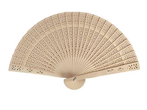 Demarkt Handfächer Holz Hand Fan Holz Handfächer Fächer Faltbar Holz Fächer