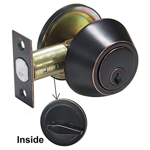 probrico Edelstahl Riegel Sicherheit Tür Schloss mit Schlüssel Safe Lock Tür Griffe Knöpfe Eingang Spind - Knopf Baby Lock